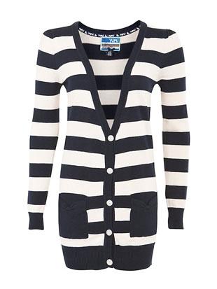 Crno - beli džemper