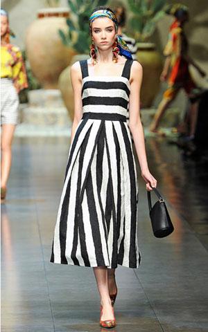 Haljina na pruge Dolce Gabbana