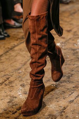 Donna Karan braon duboke cizme